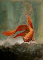 My real fish in gouache by shar-o