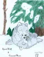 Wolf Pups in the Snow by SpiritWolfen