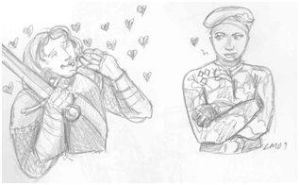 Ancelyn and  Bambera by theterriblezodin