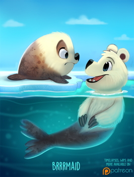 Daily Paint 1499. Brrrmaid by Cryptid-Creations