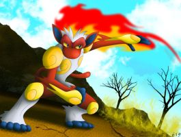 Infernape by ShenWooo