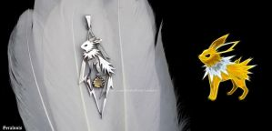 'Jolteon', handmade sterling silver pendant by seralune