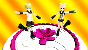 Happy Birthday Rin and Len Kagamine by DeathNoteE