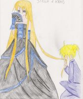 Stella and Krad - royalty by SarahShirabuki8000