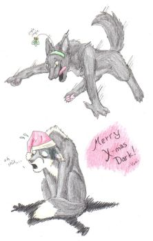 HAPPY X-MAS DARKIE WARKIE XD by ookami-no-yuki
