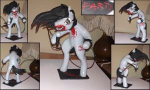 Andrew W.K. pony sculpture by RetardedDogProductns