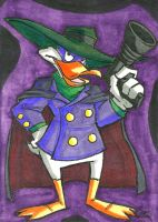 Darkwing Duck Sketch Card by ibroussardart