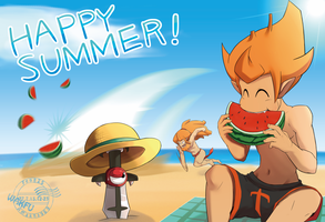 Summer greeting card by yamiyonofen
