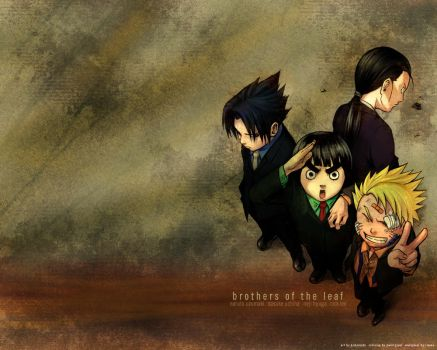 the boys:sasu, naru, neji, lee by twilight-tora