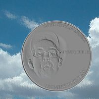 silly face engraved coin by rangerkom