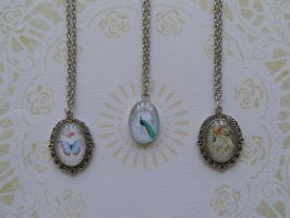 My new necklaces with cabochon by SteamJo