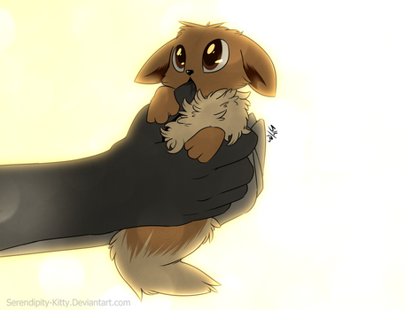 Baby Eevee by Serendipity-Kitty