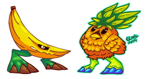 Fruit monsters 1 by hummeri9