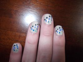 fun new nails by wittlecabbage