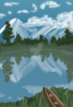 Landscape Practice WIP by YamiCrystalline