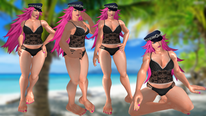 Poison black lingerie by DragonLord720