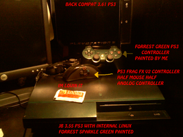ps3 setup and custom painted by alchybear