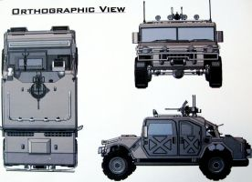 Hummer Orthographic by Joshchg