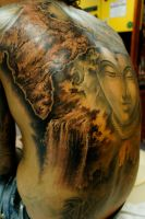 India backpiece,waterfall session by strangeris