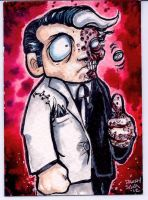 Two Face Sketch Card  Commission by dsilvabarred