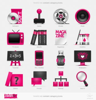 Downtr site icons by floydworx