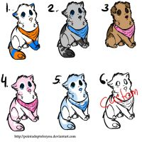 Puppeh adoptables by Bobheid