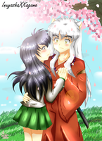 Inuyasha and Kagome by LiaMenietowLove