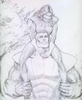 Colossus and Kitty Pryde by AlAyos