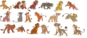 FREE !!!!!!!!!!!!!!!!! lion cub adoptables 5 by knowitall123-adopts