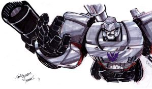 Megatron rough concept for pin-up by SketcheeBizniz