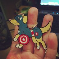 Captain America Puppy Charm by wintershield
