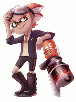 Inkling with Blaster by TooterDoodles
