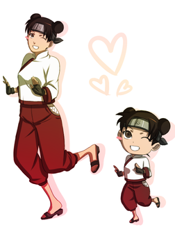 Tenten Springtime of Youth Dance by BayneezOne