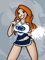CHEERLEADERS OF BIG 10 NO.3 by Rerwin