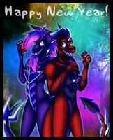 CE - Spickey and Flaze New Year by Yorialu