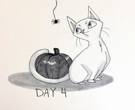 Inktober Day 4 by pandachick700