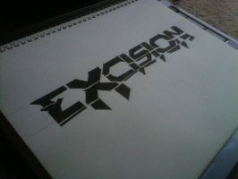 Excision Logo Freehand Drawing by bkaylor05