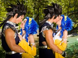 Levy McGarden and Gajeel RedFox Love by Hasadosh