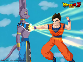 DBZ Battle of Gods: Mystic Gohan and Birusu by rocio-mb