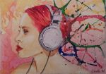 ACEO - Music Splatters - watercolor by Giselle-M