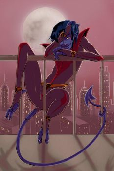 Nightcrawler Pinup by soltian