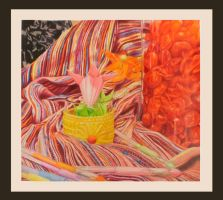 Colored Pencil Still Life by aoiyoru