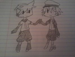 VOCALOID Oliver and VOCALOID Len by Vocaloid3Oliver