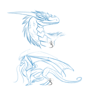 Dragon Sketches by SenseiMac