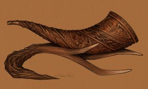 Viking Horn by UnripeHamadryad