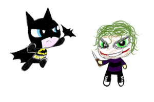 Batman and Joker PPG by ChibiAddict