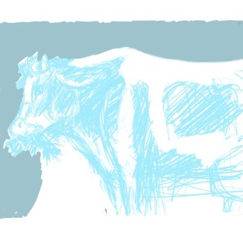 Blue Cow by Django90