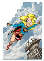 Chibi Super Girl Color by JohnStaton