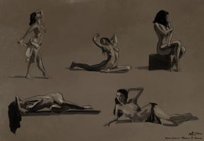Figure Drawings, 2014-05-15 by zacharyknoles