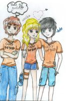 Percabeth and Grover by xRunox